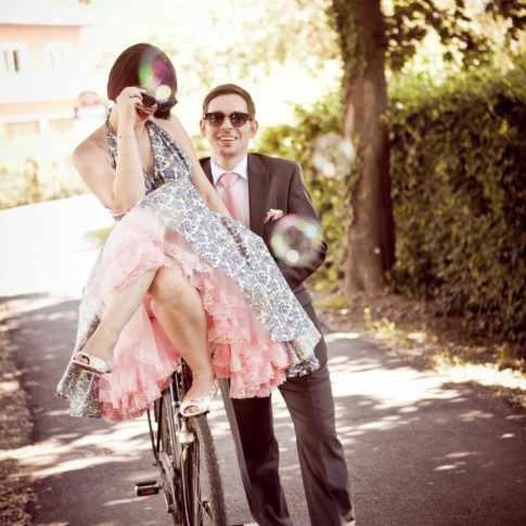 50er Jahre Hochzeit Katrin & Stefan auf Puch-Rad in der Südoststeiermark